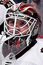 Calvin Pickard Face Photo on Ice