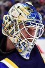 Jordan Binnington Face Photo on Ice