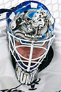 Kristers Gudlevskis Face Photo on Ice