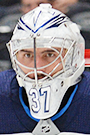 Connor Hellebuyck Face Photo on Ice