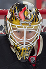 Mike Condon Face Photo on Ice