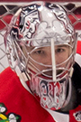 Cam Ward Face Photo on Ice