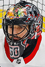 Corey Crawford Face Photo on Ice