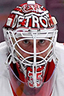 Jimmy Howard Face Photo on Ice