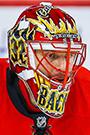 Niklas Backstrom Face Photo on Ice