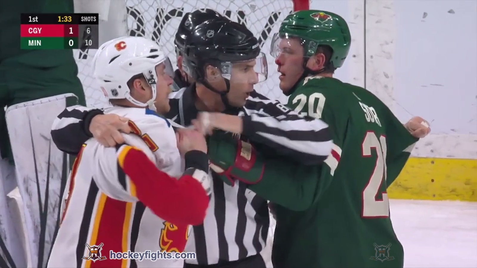 Ryan Suter vs. Sam Bennett