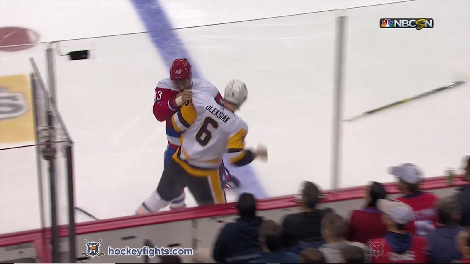 Jamie Oleksiak vs Tom Wilson