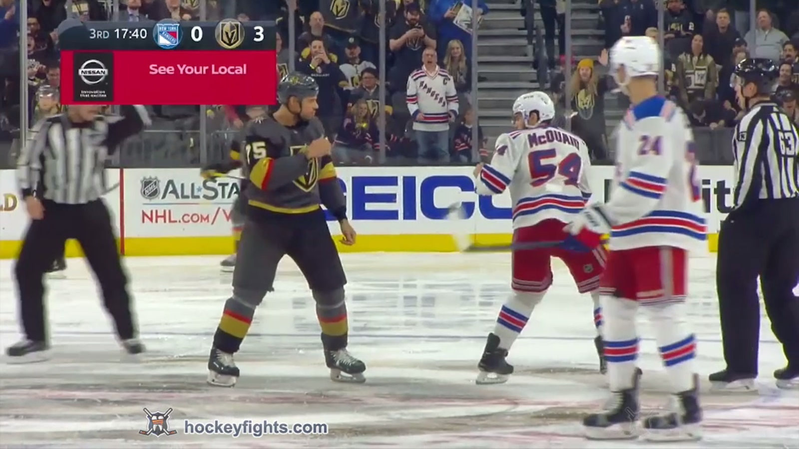 Ryan Reaves vs. Adam McQuaid