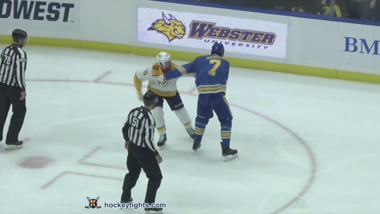Patrick Maroon vs. Cody McLeod