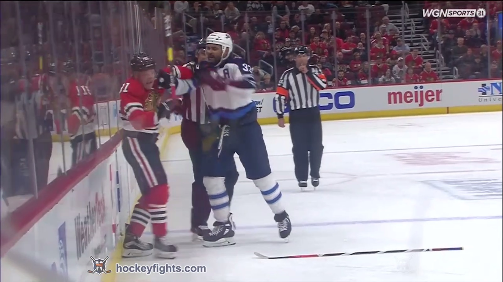 new style 72997 8c4e2 Dustin Byfuglien vs. Drake Caggiula, April 01, 2019 ...