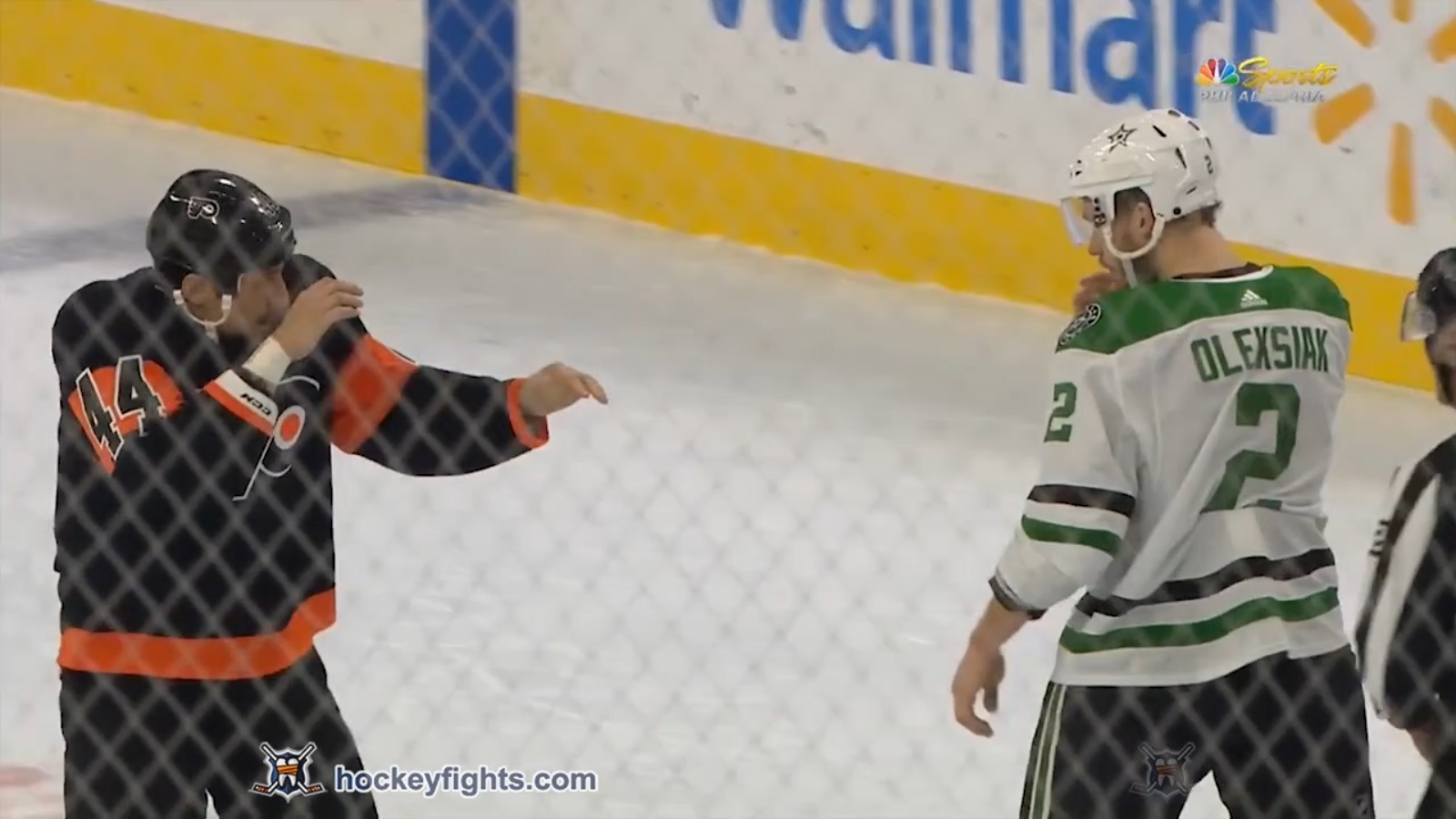 Jamie Oleksiak vs Chris Stewart