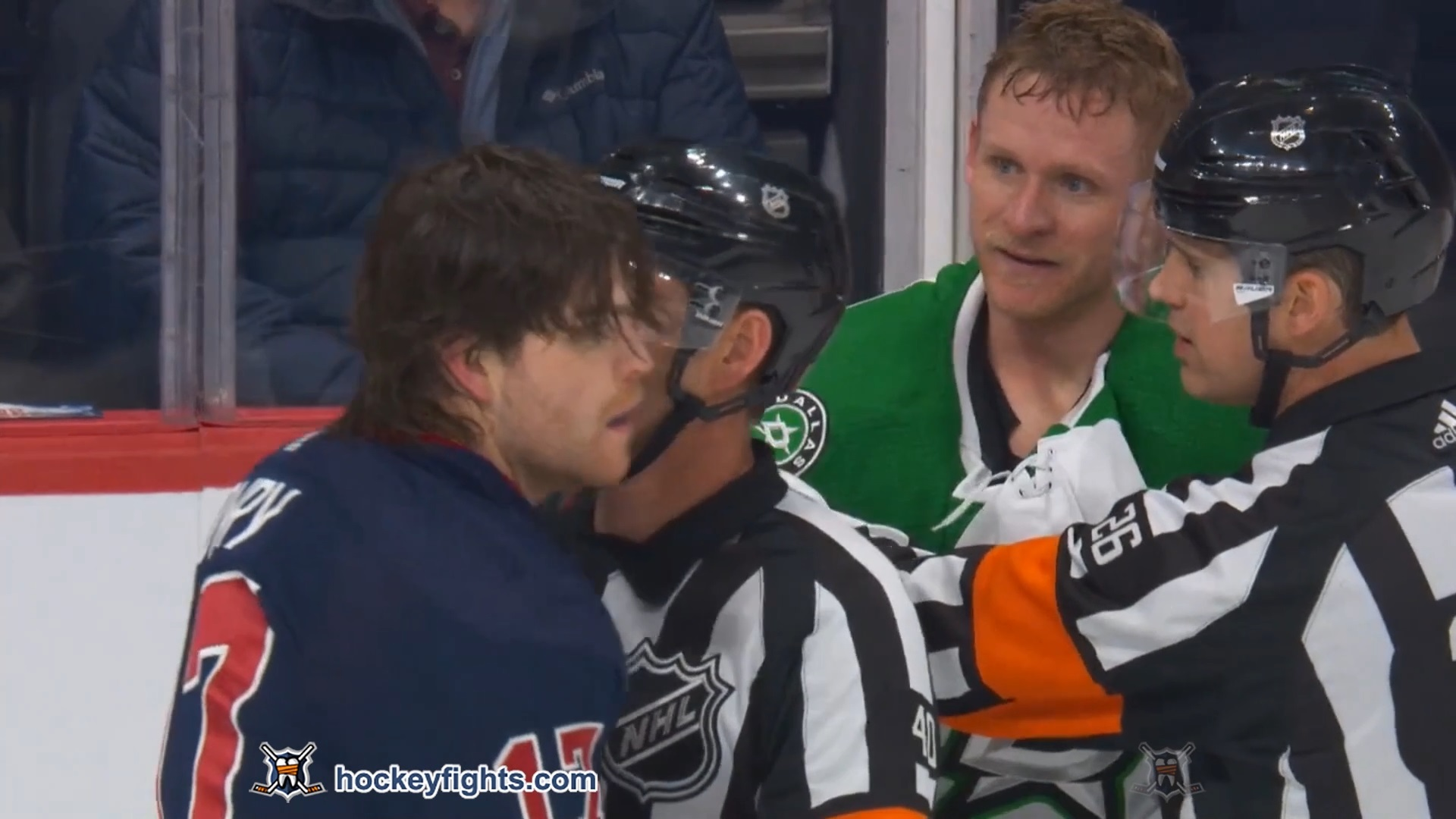 Adam Lowry vs. Corey Perry