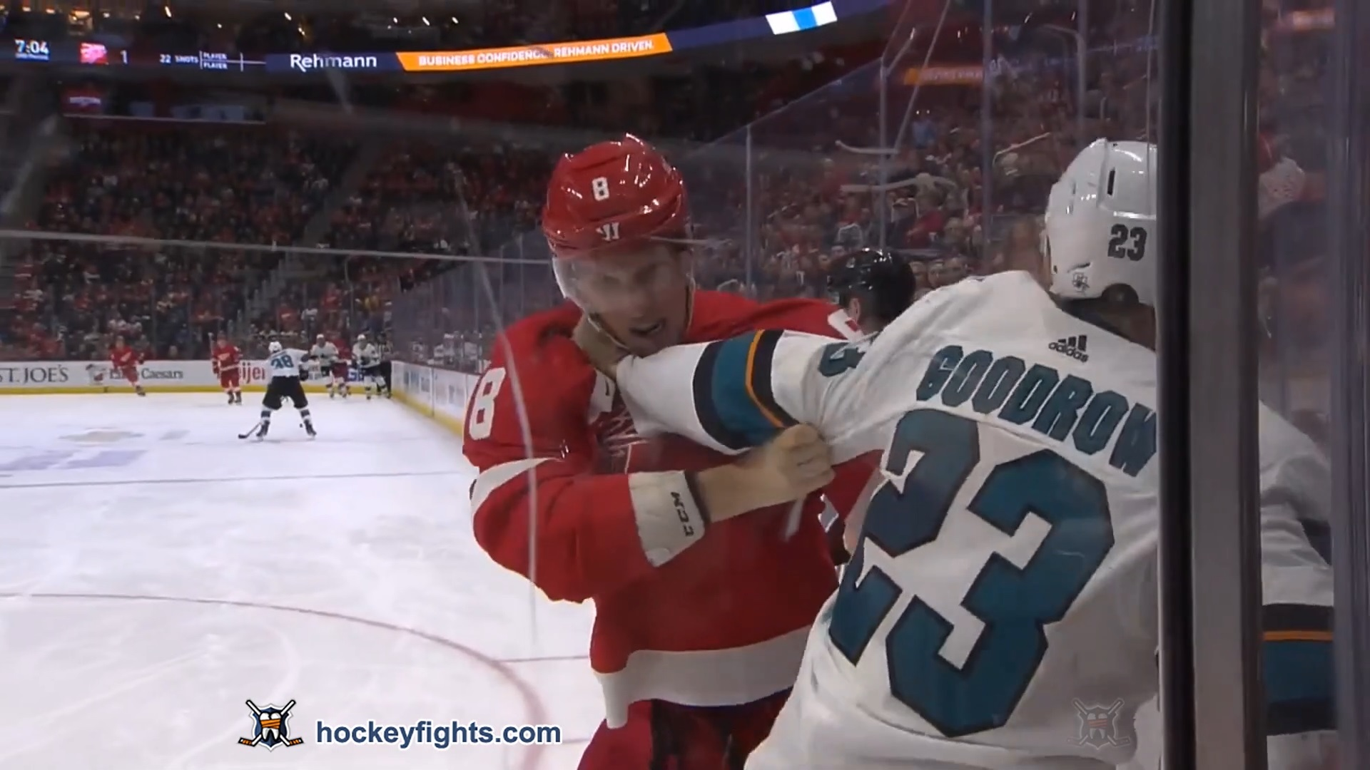 Justin Abdelkader vs. Barclay Goodrow