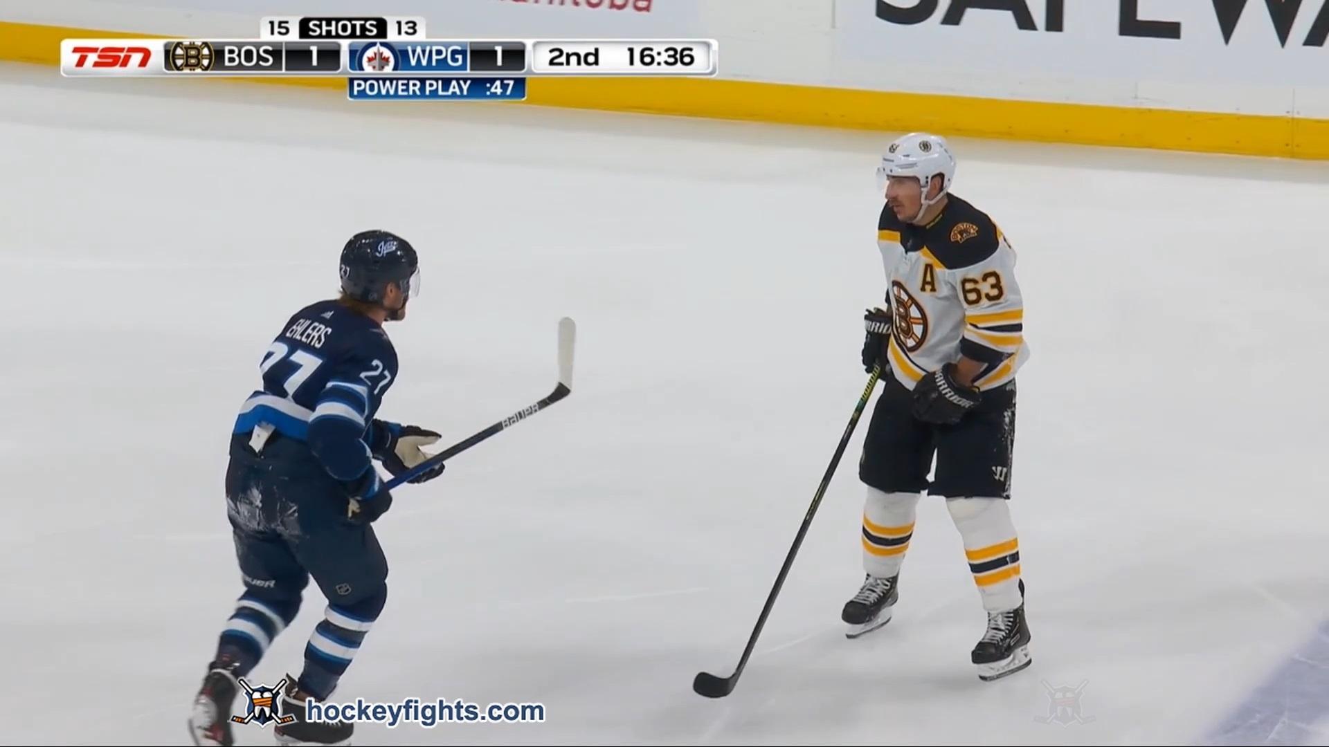 Nikolaj Ehlers vs. Brad Marchand