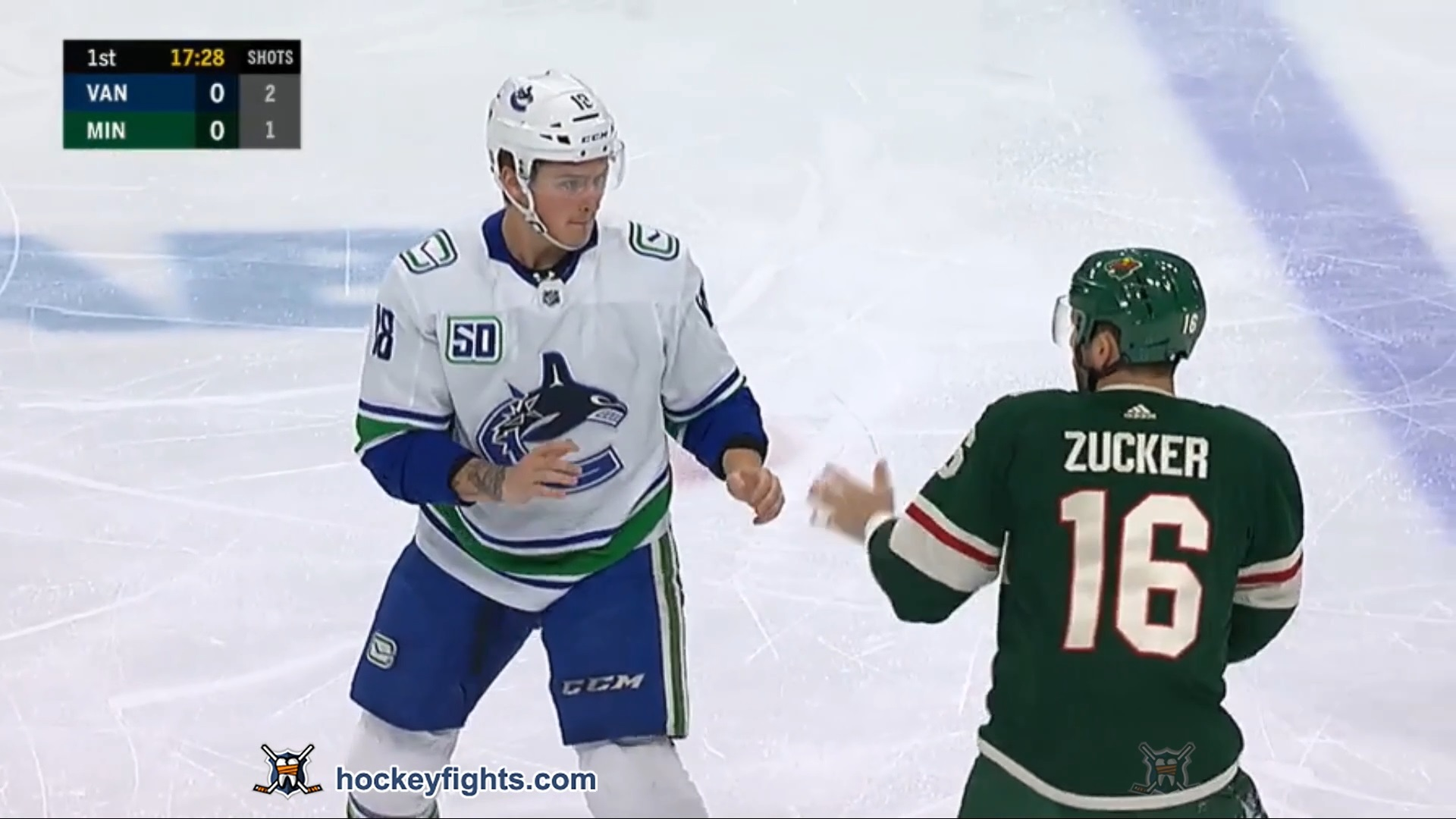 Jake Virtanen vs Jason Zucker