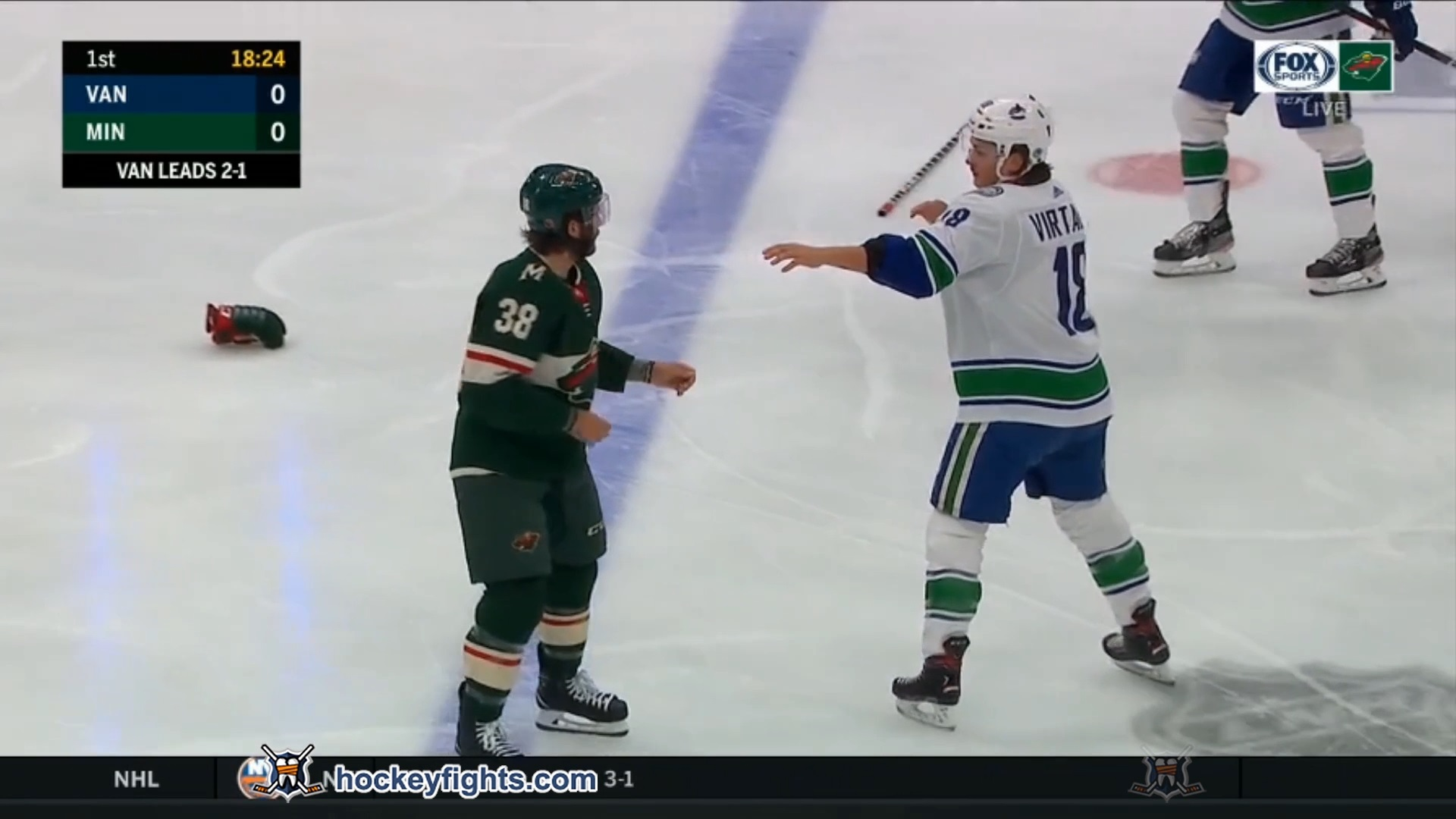 Jake Virtanen vs Ryan Hartman