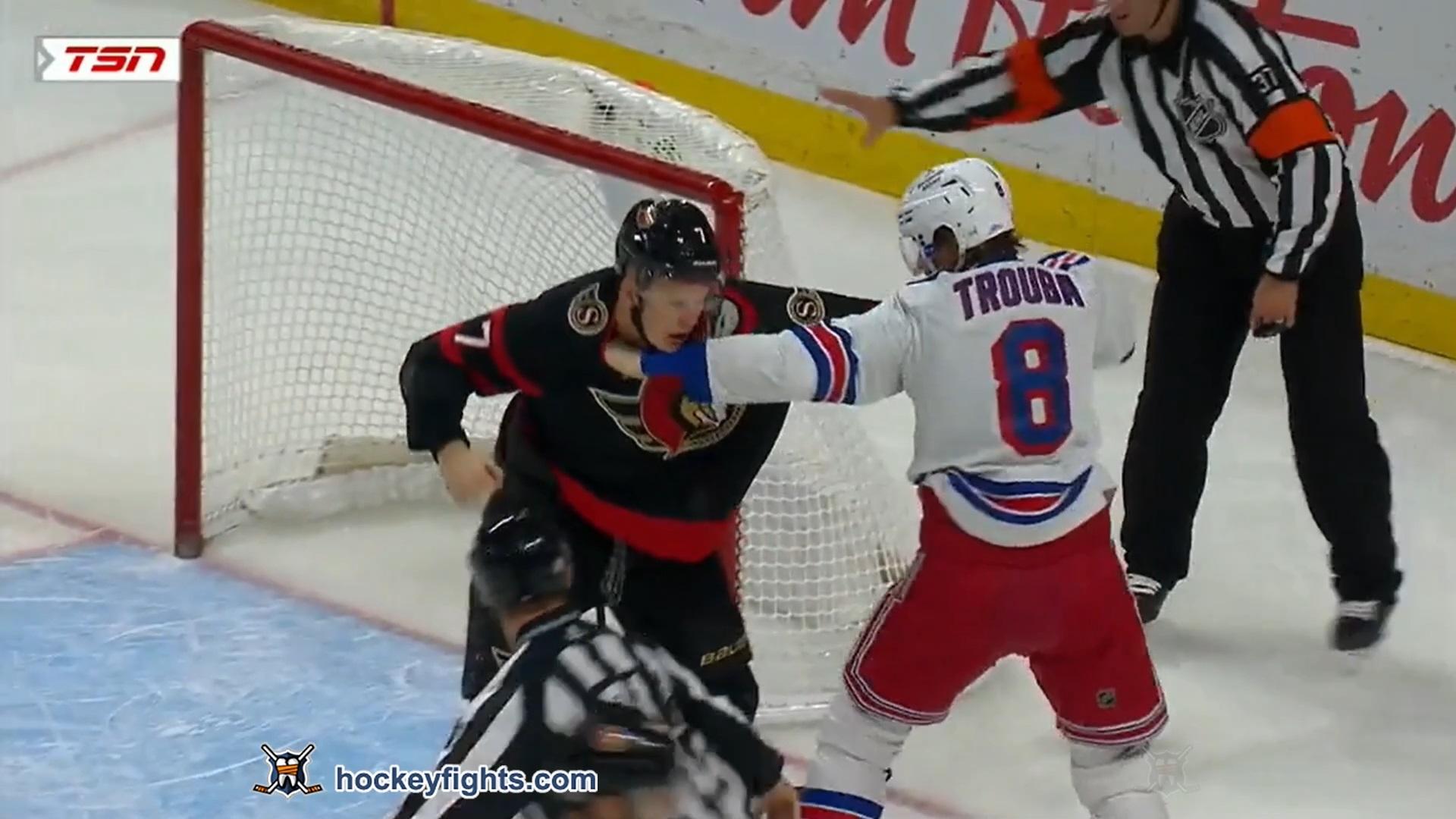 Brady Tkachuk vs. Jacob Trouba